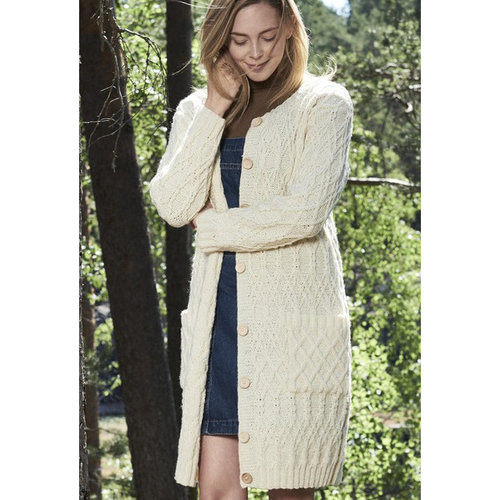 Novita 0218S Nordic Wool Women's Cabled Jacket (Free) -  ()