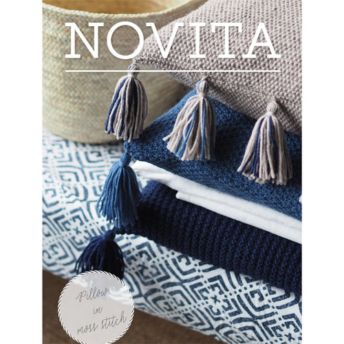 Novita 7 Brothers Moss Stitch Pillow (Free) -  ()