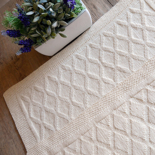 OGE Knitwear Designs P106 Faerydae Diamond Blanket PDF -  ()