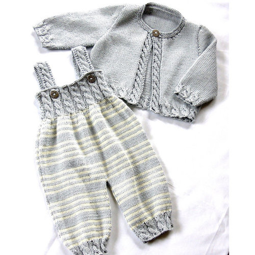 OGE Knitwear Designs P037 Baby Overalls and Cardigan PDF -  ()