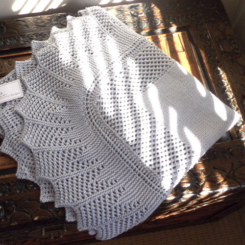 OGE Knitwear Designs P076 Simple Elegant Baby Blanket PDF -  ()