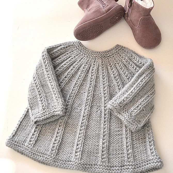 3956f47bc OGE Knitwear Designs P094 Seamless Top Down Cardigan and Romper PDF - ()