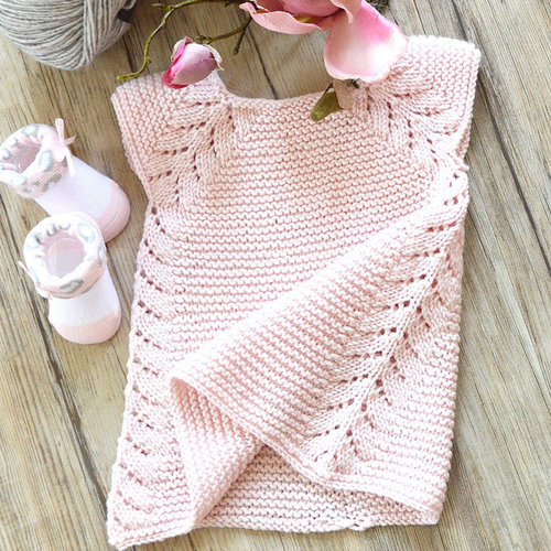 OGE Knitwear Designs P112 Lil Rosebud Top Down Dress PDF -  ()