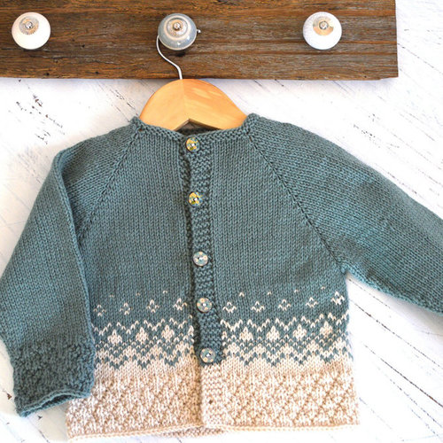 OGE Knitwear Designs P124 Textured Top Down Nordic Cardigan PDF -  ()