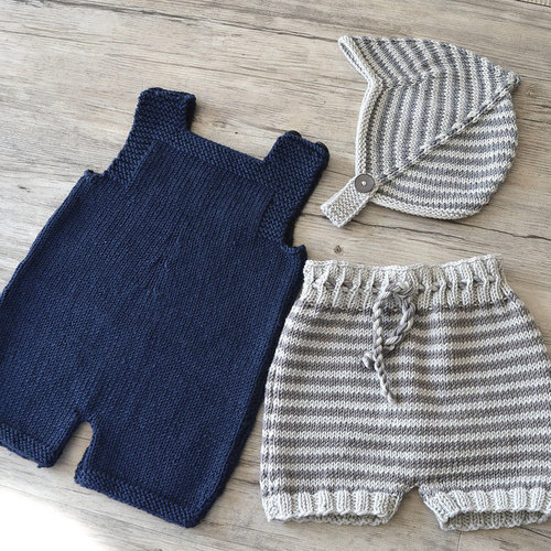 OGE Knitwear Designs P125 Romper Shorts and Helmet PDF -  ()
