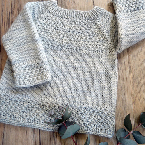 OGE Knitwear Designs P137 Silver Gum Top Down Sweater PDF -  ()