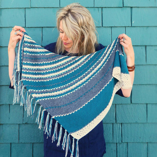 Olive Knits Pacific Grove Shawl PDF -  ()