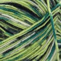 On-Line Supersocke 100 4-Ply Graffiti Color (with Aloe) - Greens, Black, White (1994)