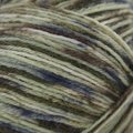 On-Line Supersocke 100 4-Ply Graffiti Color (with Aloe) - Light Olive, Brown, Navy (1996)
