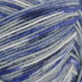On-Line Supersocke 100 4-Ply Graffiti Color (with Aloe) - Royal Blue, Light Gray, White (1997)