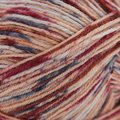 On-Line Supersocke 100 4-Ply Graffiti Color (with Aloe) - Rust, Peach, Navy (1998)