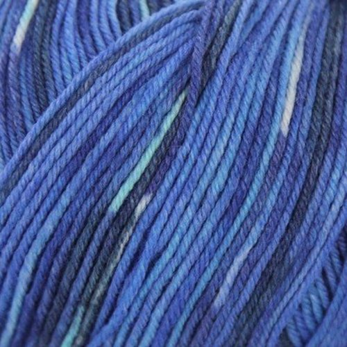 On-Line Supersocke 100 4-Ply Silk Color - Blues (2043)