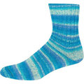 On-Line Supersocke 225 Cotton Stretch Color - Turquoise-Pale Blue (2062)