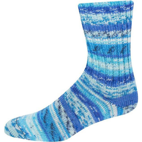 On-Line Supersocke 232 4-Ply Bambus Color - Blues (2107)