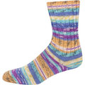 On-Line Supersocke 232 4-Ply Bambus Color - Blue-Turquoise-Apricot-Purple (2108)