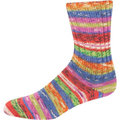 On-Line Supersocke 232 4-Ply Bambus Color - Red-Blue-Lime (2113)