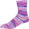 On-Line Supersocke 233 4-Ply Silk Color - Purples-Pink-White (2118)