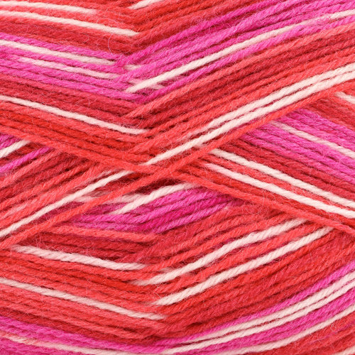 On-Line Supersocke 269 Caras Color - Red, Hot Pink, White (2361)