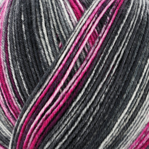 On-Line Supersocke 4-Ply Merino Extrafine Color - Grey, Magenta (2484)