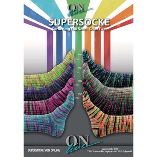On-Line Supersocke 4-Ply Neon Color Two -  ()