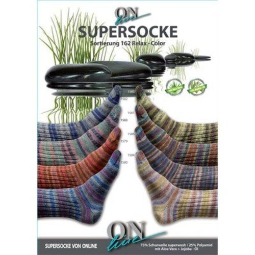 On-Line Supersocke 4-Ply Relax Color (with Aloe) -  ()