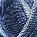 On-Line Supersocke 4-Ply Silk Color - Blues, White (2491)