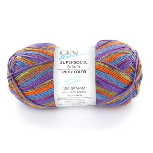 On-Line Supersocke 6-Ply Enjoy Color (with Aloe) -  ()