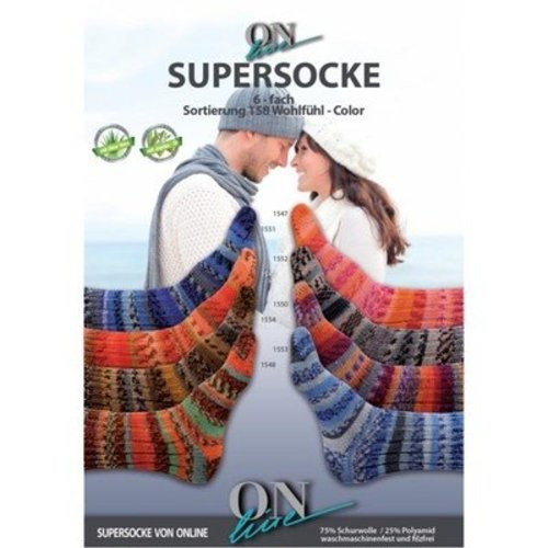 On-Line Supersocke 6-Ply Wohlf hl Color -  ()
