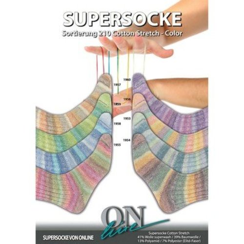 On-Line Supersocke Cotton Stretch Color 210 -  ()
