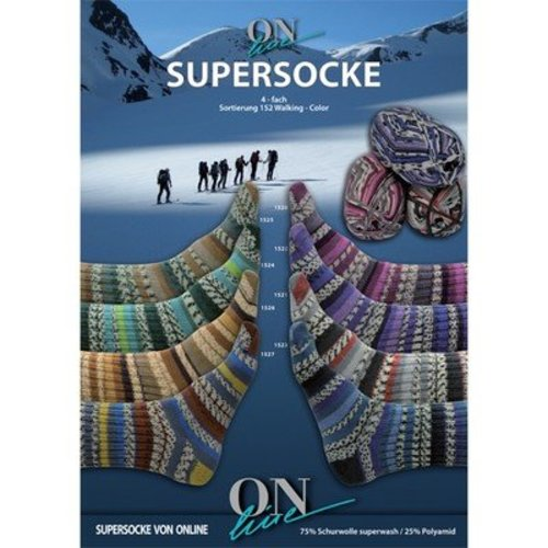 On-Line Supersocke Walking Color 4-Ply -  ()