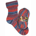 Opal My Sock Design - Red-Blue (9370)