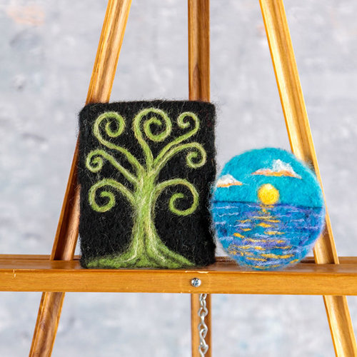 Painting With Wool: Needle Felted Art -  ()