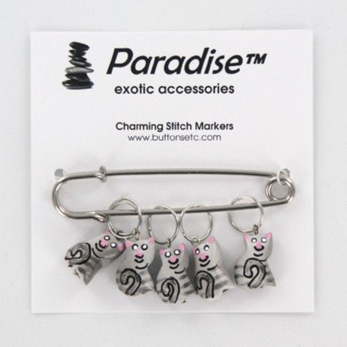 Paradise Exotic Charming Stitch Markers - Green Birdie (BIRDIE)