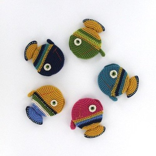 Paradise Exotic Crocheted Tape Measure - Fish - Assorted Colors (FISH)