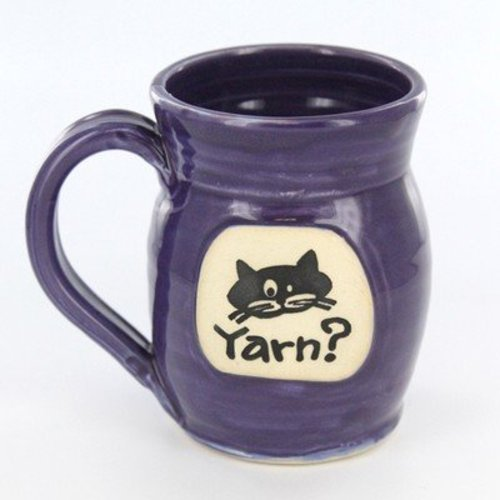 Pawley Studios Phrase Mugs - Yarn? (with Cat Face) - Purple (CATYARN)