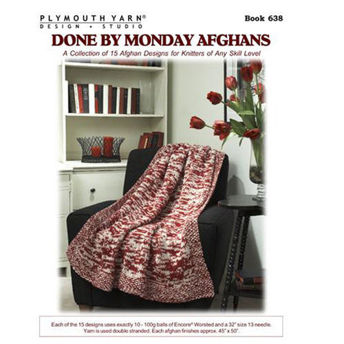 Plymouth Yarn 0638 Done By Monday Afghans Booklet -  ()