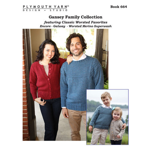 Plymouth Yarn 0664 Gansey Family Collection Booklet -  ()