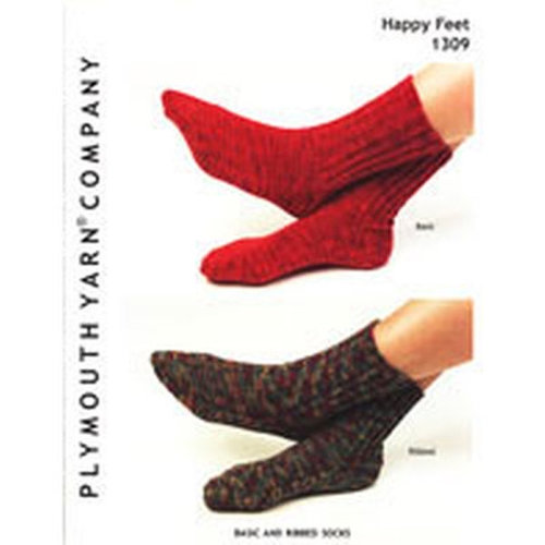 Plymouth Yarn 1309 Basic & Ribbed Socks -  ()