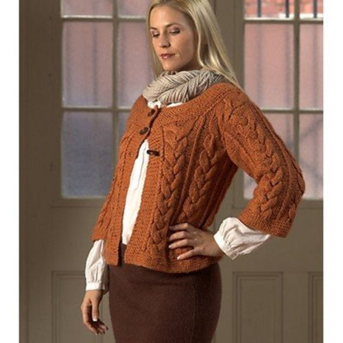 Plymouth Yarn 1791 Cabled Cardigan -  ()