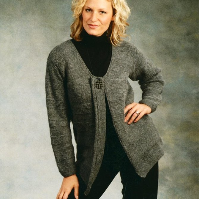 Plymouth Yarn 1796 Ladies Car Coat at WEBS | Yarn.com