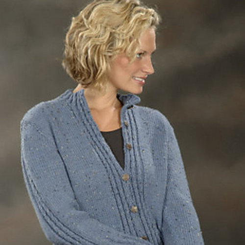 Plymouth Yarn 1875 Mock Cable Cardigan -  ()