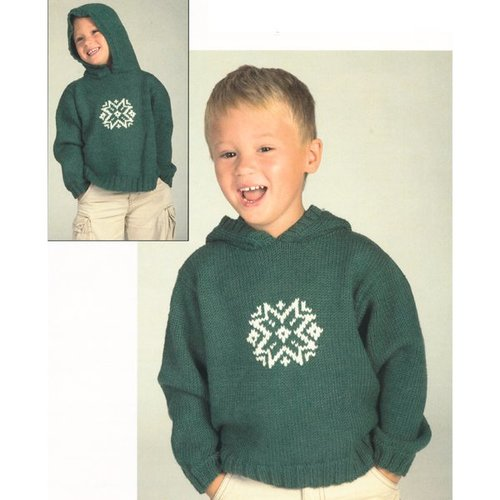 Plymouth Yarn 2058 Worsted Merino Superwash Snowflake Hoodie -  ()