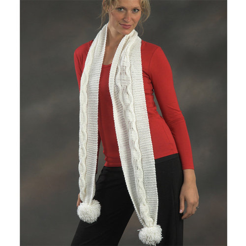 Plymouth Yarn 2152 Cabled Scarf -  ()