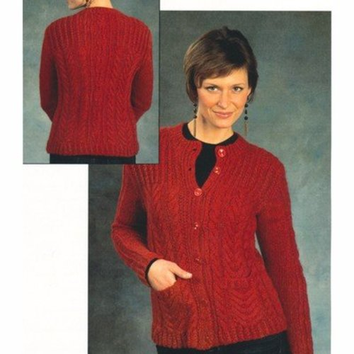 Plymouth Yarn 2386 Woman's Cabled Cardigan -  ()