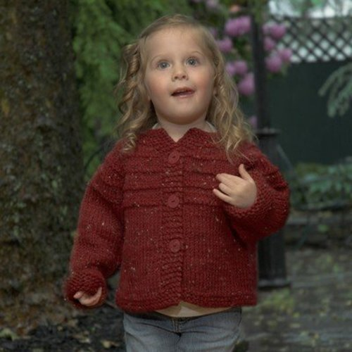 Plymouth Yarn 2468 Child's Top Down Raglan Cardigan -  ()