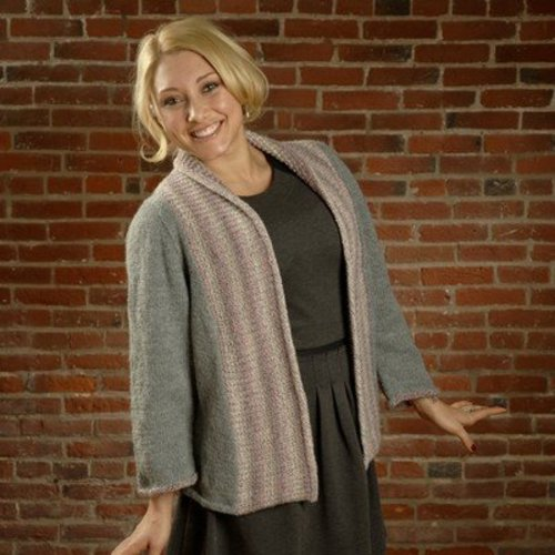 Plymouth Yarn 2555 Shawl Collar Cardigan (Encore Colorspun & Worsted) -  ()