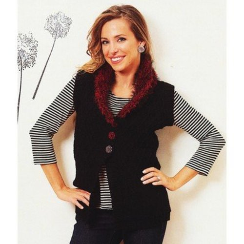 Plymouth Yarn 2625 Cabled Vest -  ()