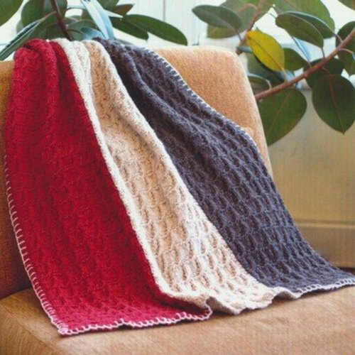 Plymouth Yarn 2693 Vertical Stripe Throw & Afghan -  ()