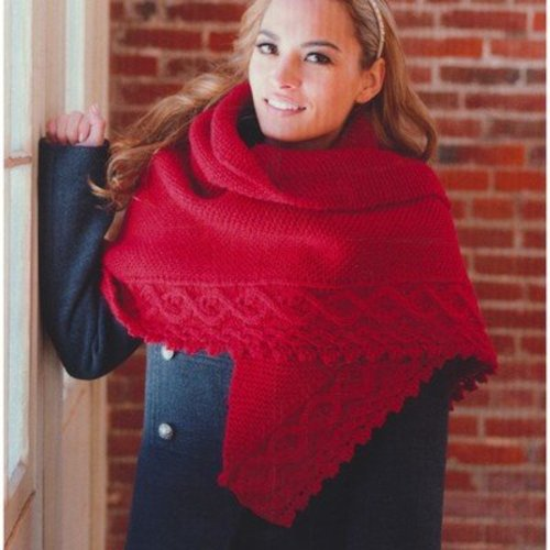 Plymouth Yarn 2766 Cable Shawl -  ()