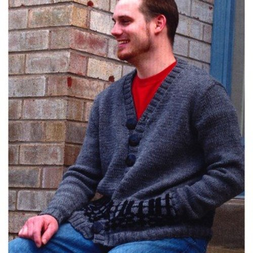 Plymouth Yarn 2767 Men's Fair Isle Cardigan -  ()
